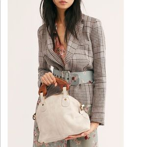 NEW free people mini willow vintage tote clutch
